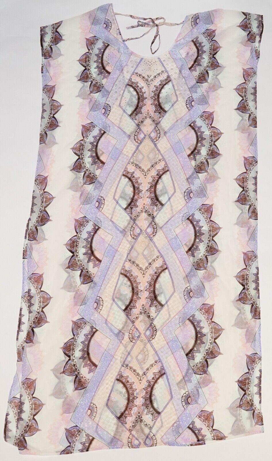 New Victoria's Secret Pink Mandala Print Bling Kimono Beach Cover Up S