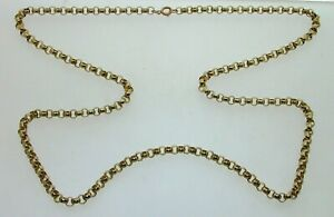 9-Carat-Gold-25-034-Long-Round-Belcher-Chain-25-3-grams-Bolt-Ring-Clasp-4-1-mm-wide