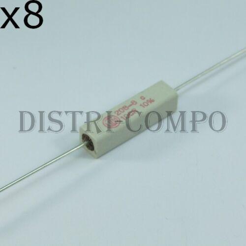 lot de 8 Résistance 5W 0.15ohm axial bobinée céramique 10/%