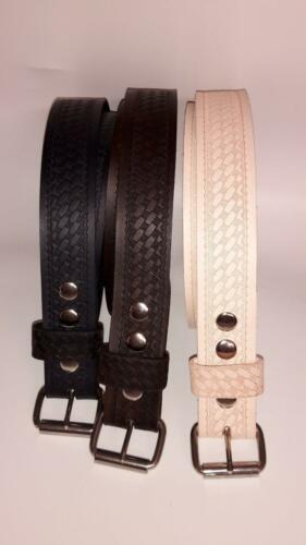 """HEAVY DUTY  BASKET WAVE HAND MADE 1.1//2/"""" W REAL LEATHER  WORK BELT  TOOL HOLSTER"""