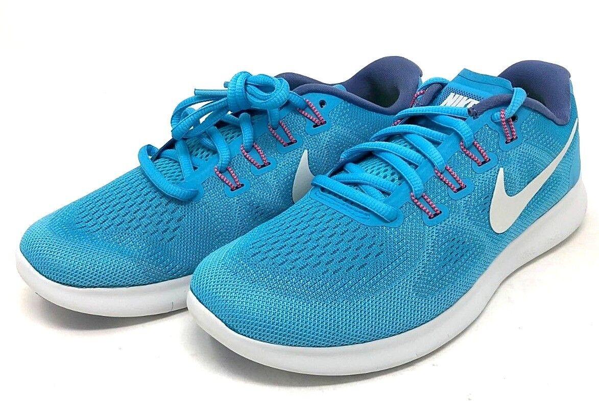 Nike Wmns Free Run 2017 SIZE 6.5 Gym bluee White White White aa0b62