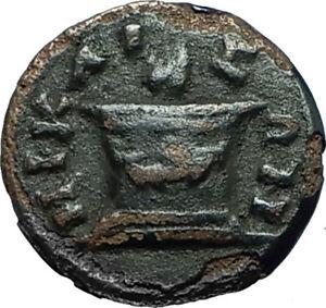 CARACALLA-198AD-Nicaea-Bithynia-Authentic-Ancient-Roman-Coin-w-FIRE-ALTAR-i66347