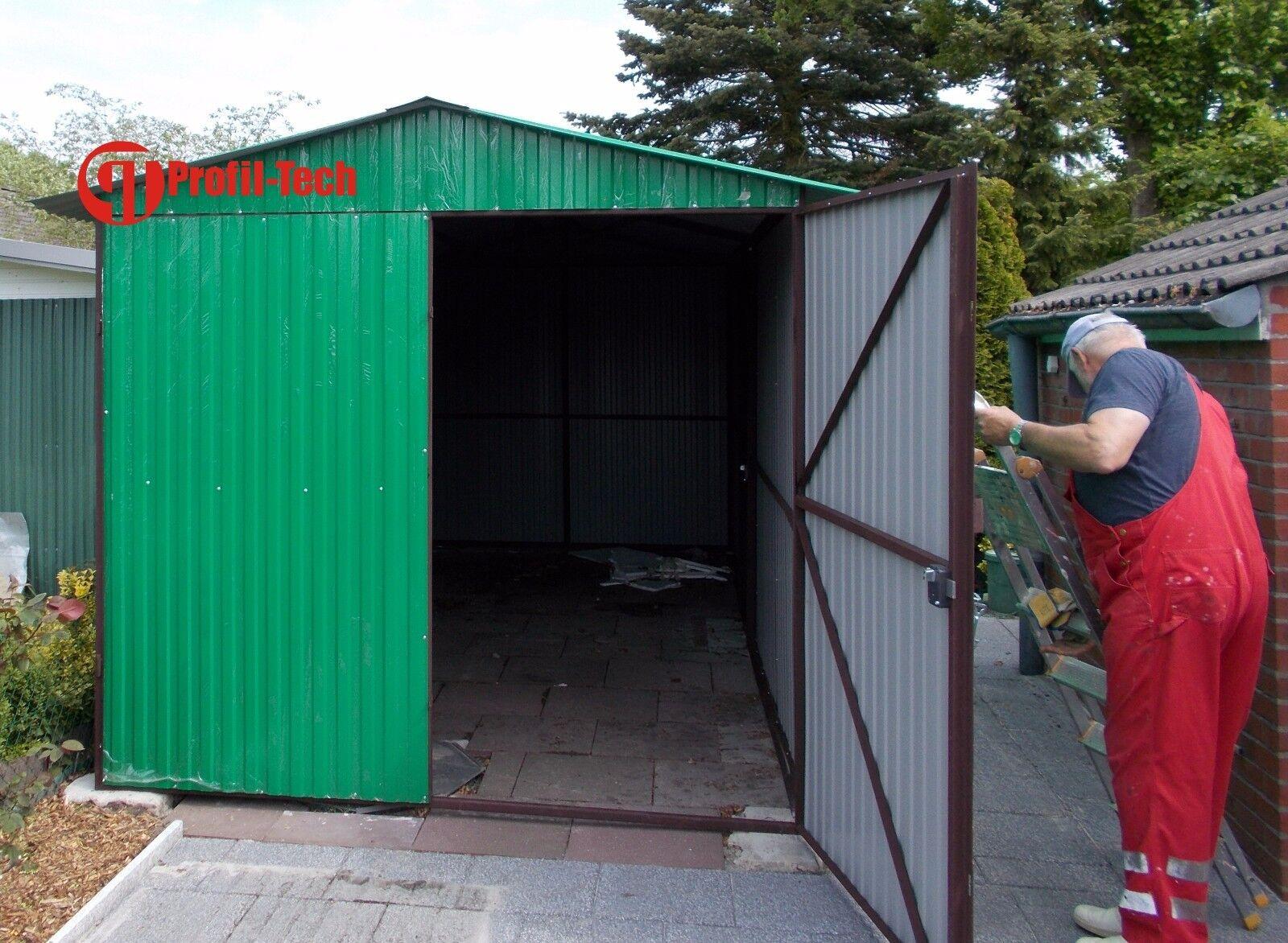 2,5x3,5 Blechgarage Fertiggarage Metallgarage LAGERRAUM GERÄTESCHUPPEN garage