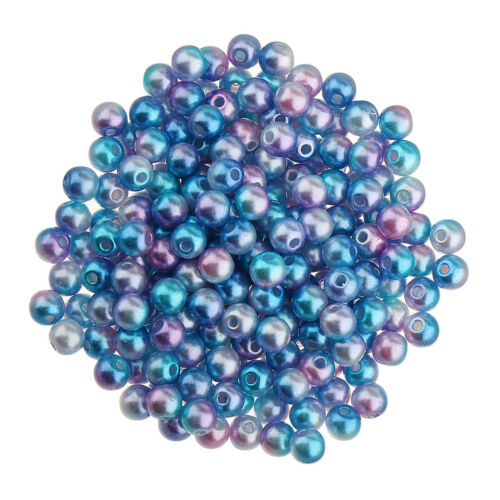 500 Pcs Tiny Satin Luster Imitation Round Pearl Beads for DIY Jewelry Making