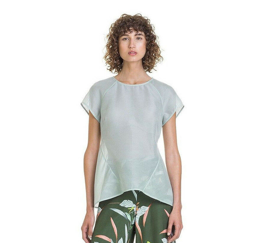 NWT  Designer COUNTRY ROAD  SILK Cotton Shirt TOP Mint  6 8 10 12 14