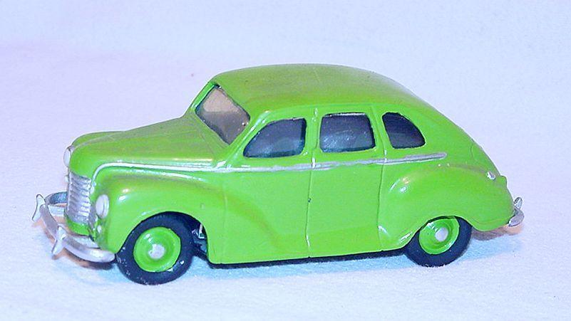 Mikansue 1 43 JOWETT JAVELIN 4-Door 1950 bianca Metal Kit Car Hand Built NM RARE