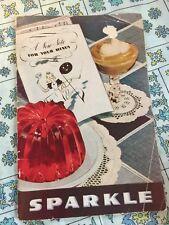 Sparkle Recipe Booklet copyright 1941 Gelatin Pudding Jello Ice Cream