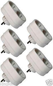 EF-Zweifachsteckdose-5x-2-fach-16-86-St-Steckdose-Schuko-Y-Adapter-2-Ausgaenge-Z
