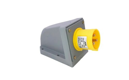 32A 110V Yellow Wall Mounted Sockets Industrial Site IP67 IP44 JCE 16A