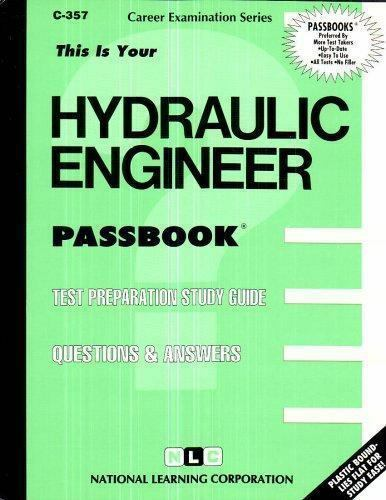 National Learning Corporation-Hydraulic Engineer BOOK NEW