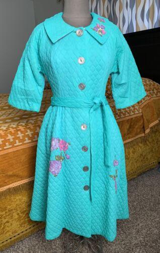Dela Ann Quilted Robe Vintage MCM Housecoat