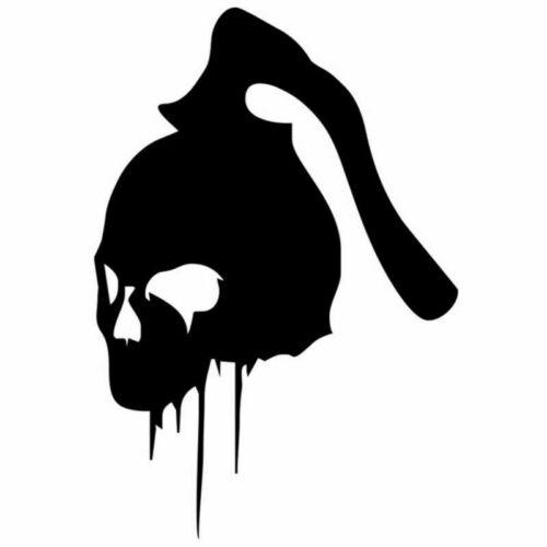 2PCS Axe Killer Skull Sticker Car Vinyl Laptop Motorcycle PC Window Skate Decal