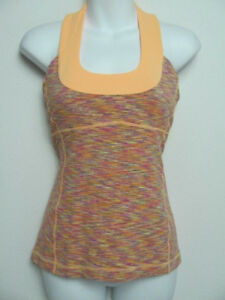 Lululemon-Womens-Scoop-Neck-Tank-Top-Wee-Are-From-Space-Dye-Orange-Size-6
