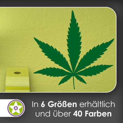 Hanf waf0776 Aufkleber Sticker Cannabis Wandtattoo KIWISTAR