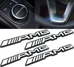 4x AMG Sticker Small Interior Decoration Metal Emblem for Mercedes Benz Class C