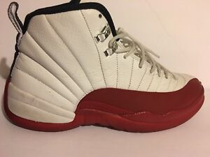 eeb48096b58c7b Nike Air Jordan 12 white and varsity red size 11.5 130690-110 ...