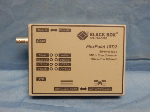 NEW Black Box LMC210A FlexPoint 10BASE-T BNC Media Converter