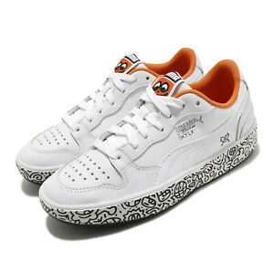 Puma-Sky-LX-Low-Mr-Doodle-White-Black-Dragon-Fire-Men-Women-Unisex-374211-01