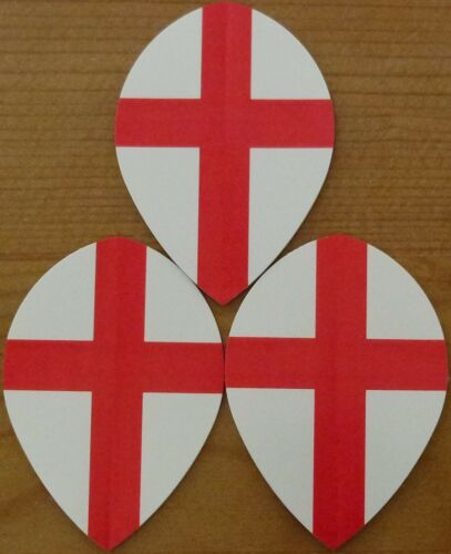 5X3 St.George Cross Poly Metronic Pear Shaped Hard Dart Flights 5 Sets