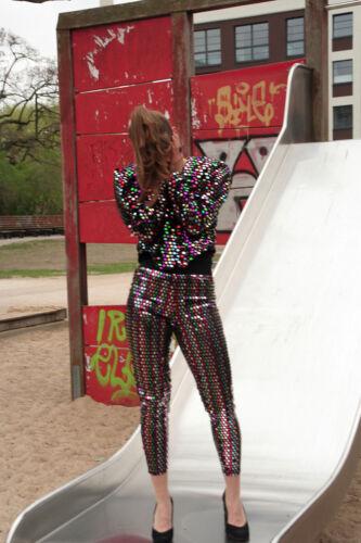 Pantaloni Pantaloni '90 da Vintage con paillettes da anni True 2 discoteca da pezzi donna ggRXCq1w