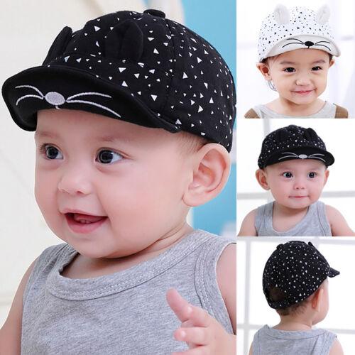 Toddler Kids Baby Boy Girls Summer Baseball Cap Rabbit Ear Snapback Sun Hat