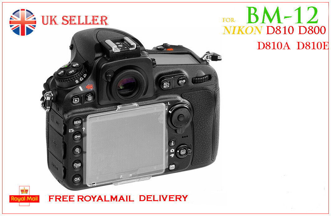 LCD Monitor Cover Screen Protector for D800 D800E D810 D810A as Nikon BM-12 UK