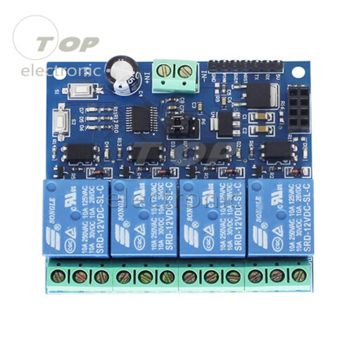 ESP8266 12V 4Channel WiFi Relay Smart Home Phone APP Remote Control Switch