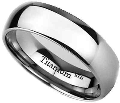 New Boxed  Mens 7mm Titanium Wedding Engagemet Band Ring - Unisex