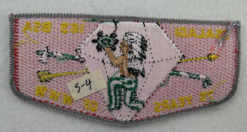 """E10104 OA Lodge 163 Tsalagi S4 Flap Grey Border /""""75 Years of WWW/"""""""