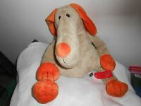 Old Navy 16 Plush Onsco Soft Lovey Tan Orange Big Snout Dog Puppy