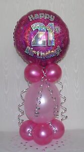 Image Is Loading AGE 21 FOIL BALLOON TABLE DECORATION DISPLAY 21ST
