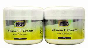 2 x Jars FSC Vitamin E Cream with Calendula 100g