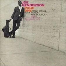"JOE HENDERSON  ""PAGE ONE ('99 DIGI REMASTERED)"" CD NEU"