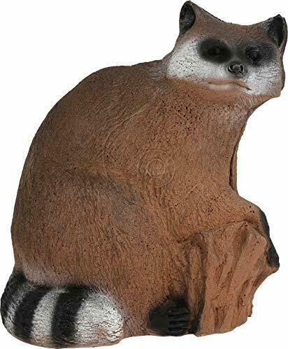 Durable & Realistic 3D Flex Foam Raccoon Archery Target w  Easy Arrow Removal