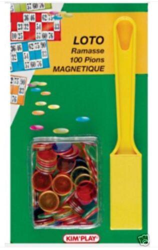 KIT LOTO RAMASSE PIONS MAGNETIQUE AVEC BATON 100 PION