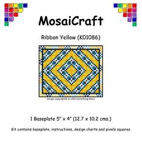 MosaiCraft-Pixel-Craft-Art-Kit-039-Ribbon-Yellow-039-Pixelhobby