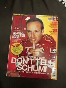 F1 Racing UK october 2002 Edition formula 1 Magazine barrichello coulthard - birmingham, West Midlands, United Kingdom - F1 Racing UK october 2002 Edition formula 1 Magazine barrichello coulthard - birmingham, West Midlands, United Kingdom