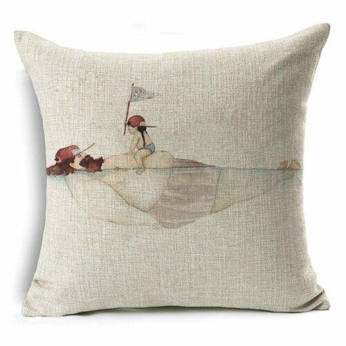 Oil Painting Art Cotton Linen Pillow Case Throw Sofa Cushion Cover Home Decor