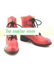 Final Fantasy Tifa Lockhart red Cosplay Boots shoes shoe boot  #NC105