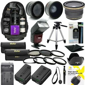 SONY-ALPHA-A6000-COMPLETE-HD-40-5MM-ACCESSORIES-KIT-LENSES-TRIPOD-BACKPACK-FLASH
