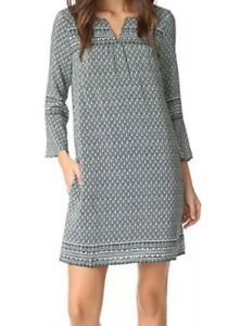 NWOT-168-Madewell-Bell-Sleeve-Silk-Tunic-Dress-Sz-Large-Green