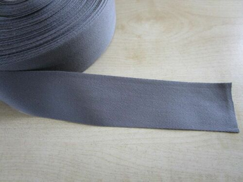 1m einfassband 40mm gris antracita algodón tapices Oldtimer alfombra coche