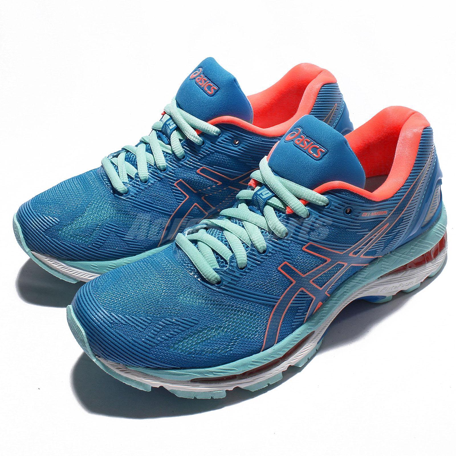 Asics Gel-Nimbus 19 bluee Green orange Women Running shoes Sneakers T750N-4306