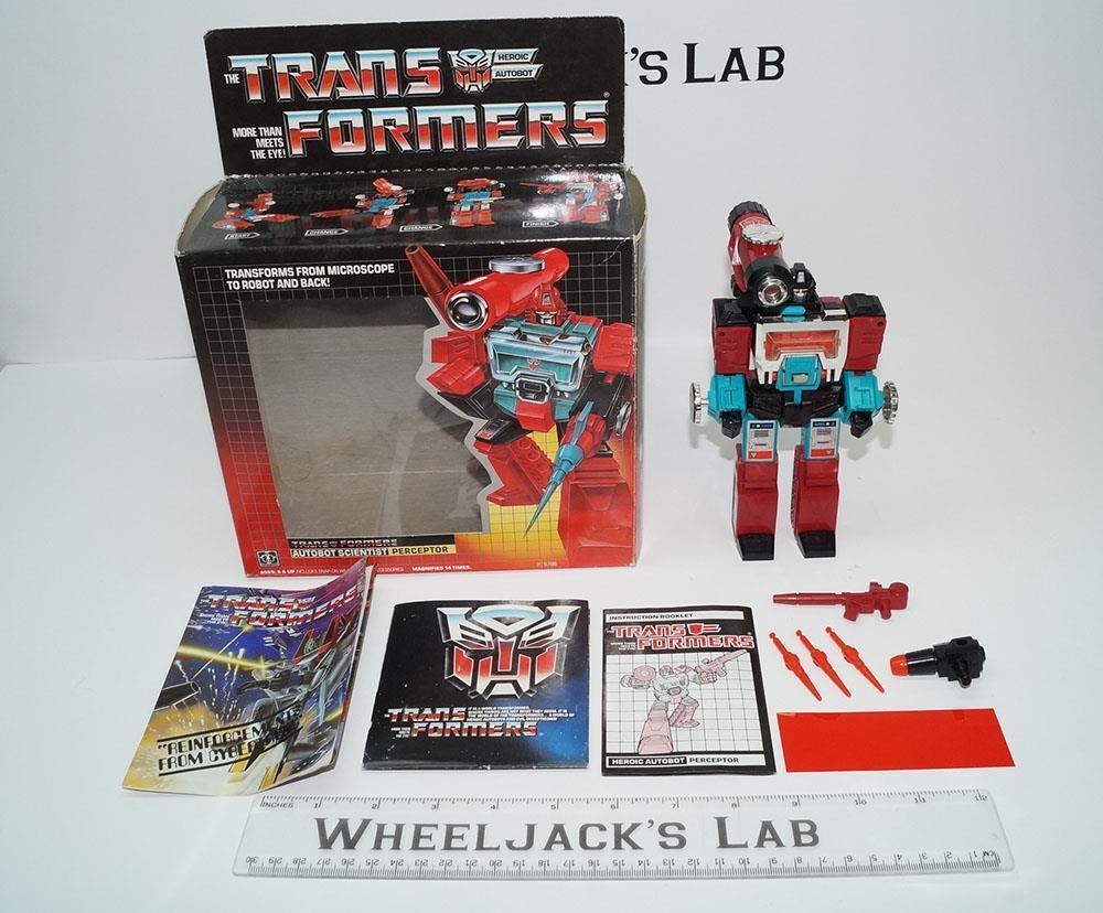 Perceptor y sin usar, en Caja 100% Completo C 2018 Vintage Figura De Acción Transformers G1