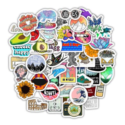 VSCO Trendy Stickers Funny Aesthetic Waterproof Laptop Water Bottle Vinyl Decals