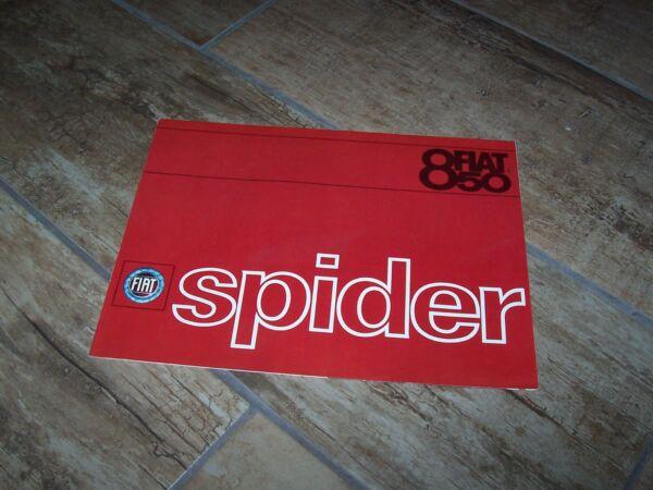 100% Waar Prospectus / Brochure Fiat 850 Spider 196? //