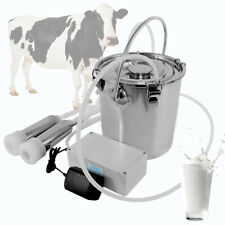 Electric Milking Machine 5l Stainless Steel Cow Goat Sheep Bucket Suction Milker