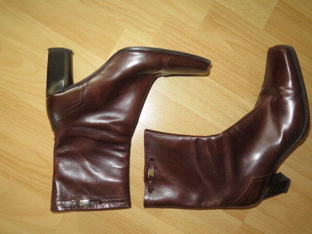 Italienische Stiefeletten CARAVELLE Gr. 38 aus schokobraunem Leder.