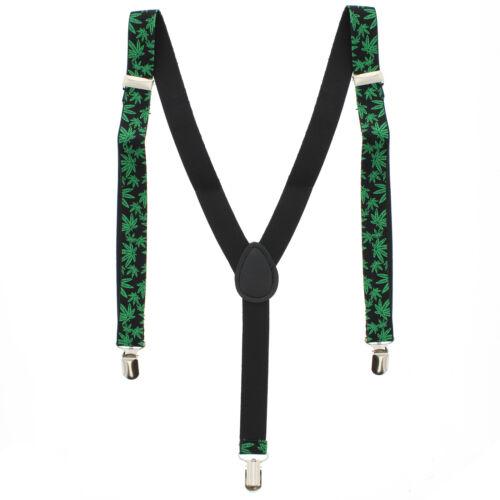 Zac/'s Alter ego ® Hommes//Femmes Réglable 25 mm largeur Green Leaf Bretelles//Bretelles