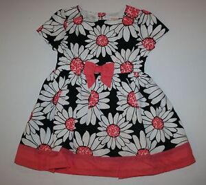 NEW-Gymboree-Girls-Daisy-Print-Dress-NWT-Size-18-24m-3T-4T-5T-Kitty-In-Pink-Line